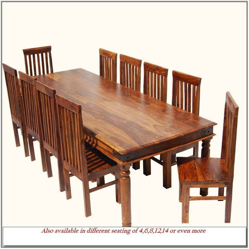 Dining Room Table 10 Chairs