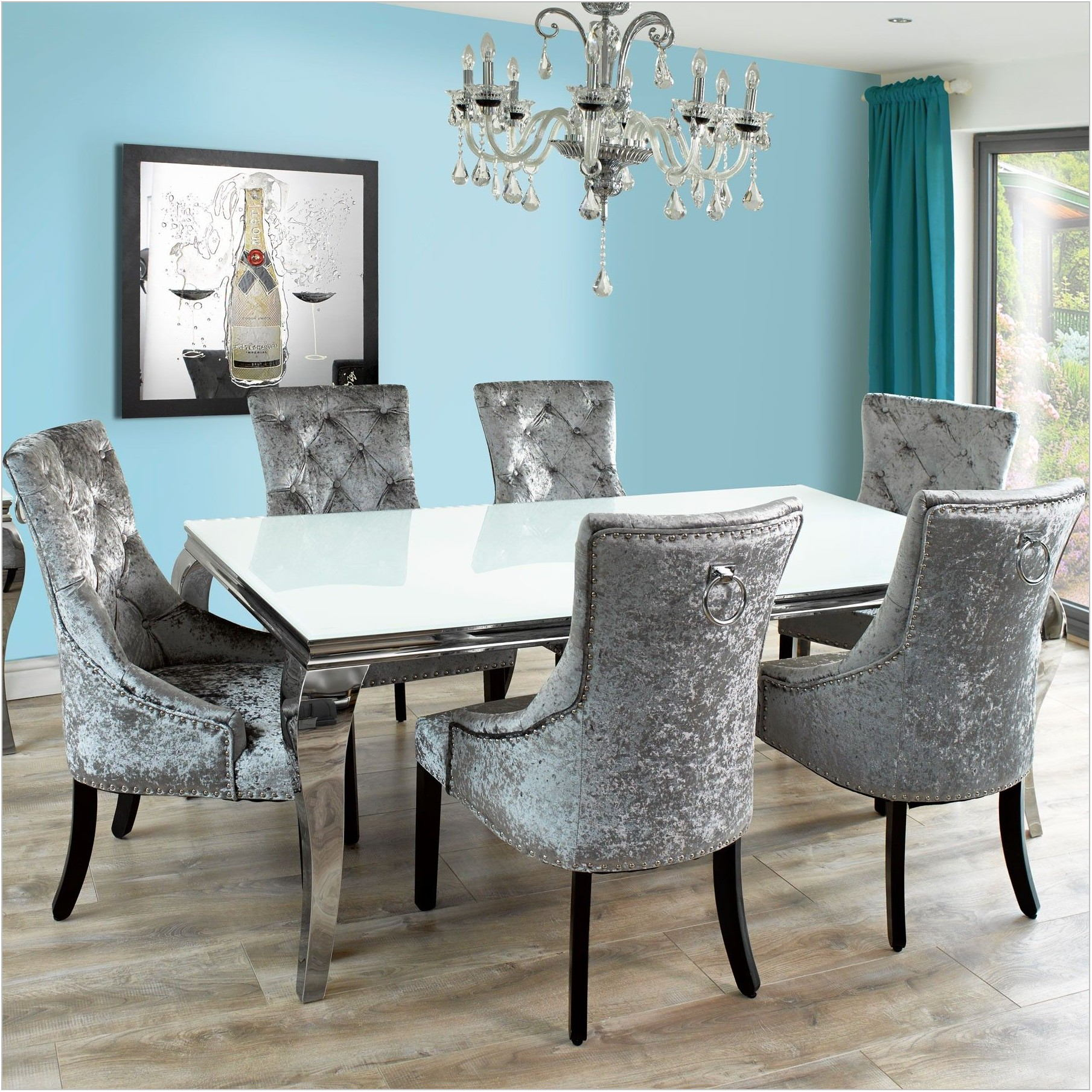 Dining Room Table And Upholstered Chairs