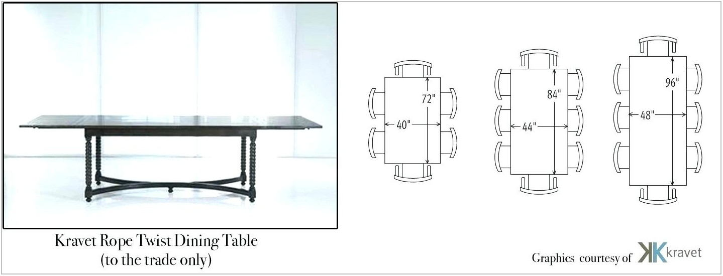 Dining Room Table Size For 10