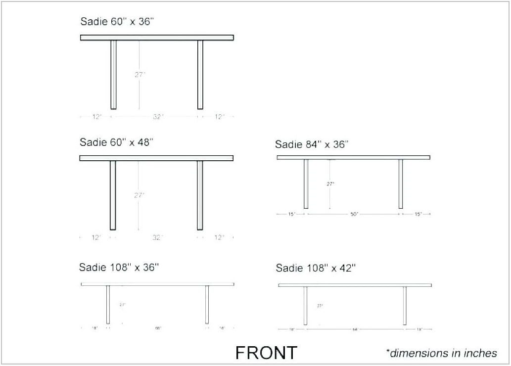 Dining Room Table Size For 8