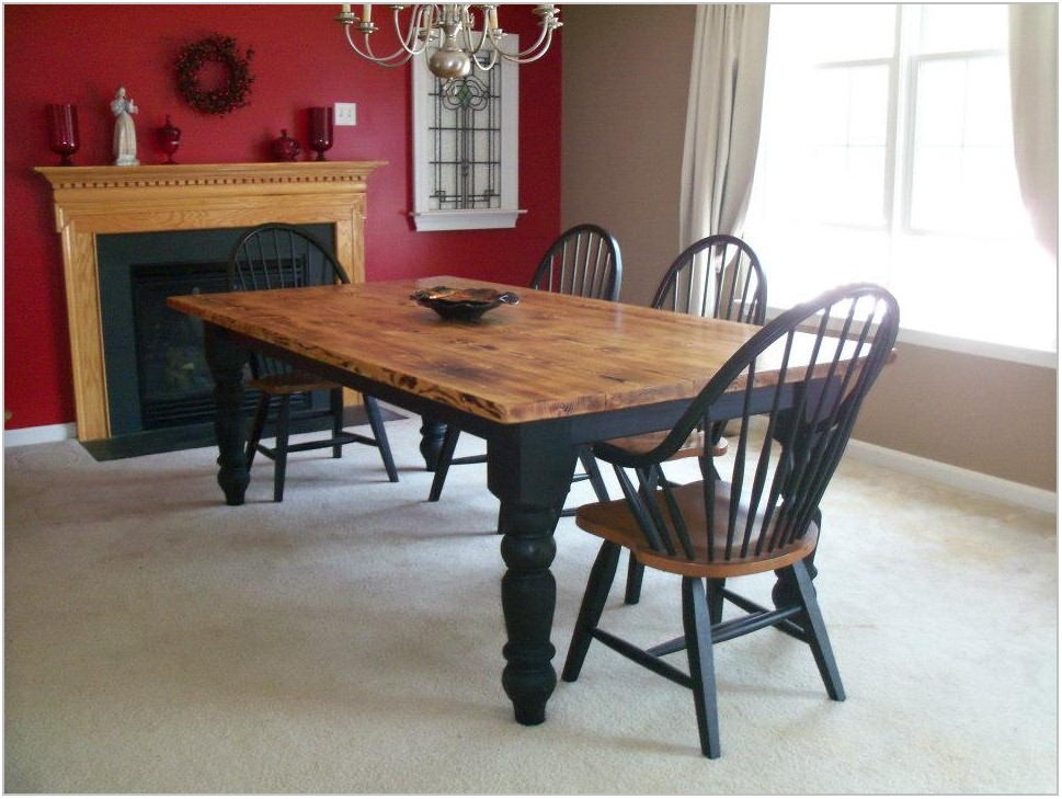 Dining Room Table With Black Legs