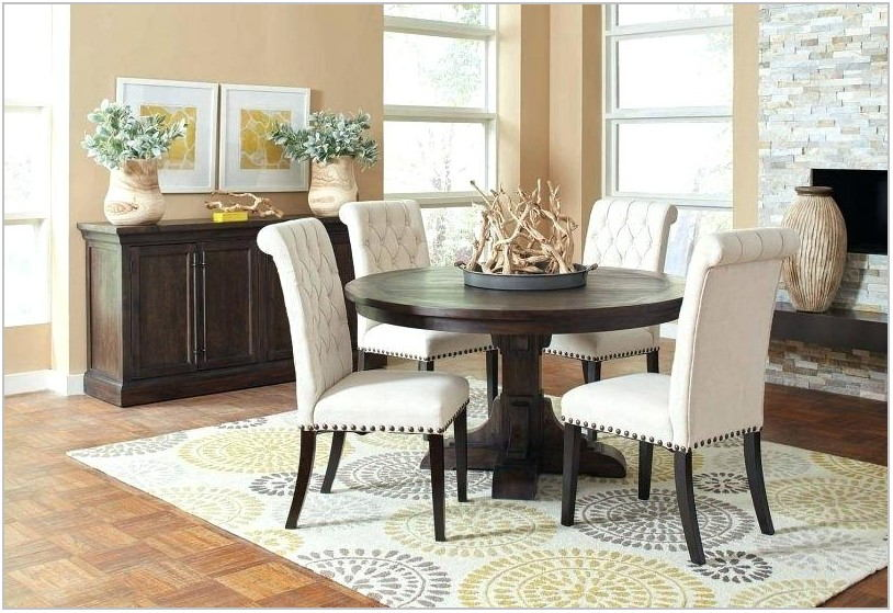 Dining Room Table With Navy Chairs