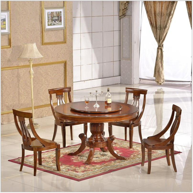 Dining Room Table With Rotating Center