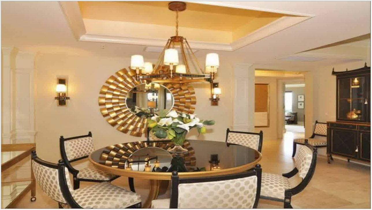 Dining Room Wall Decor With Mirror
