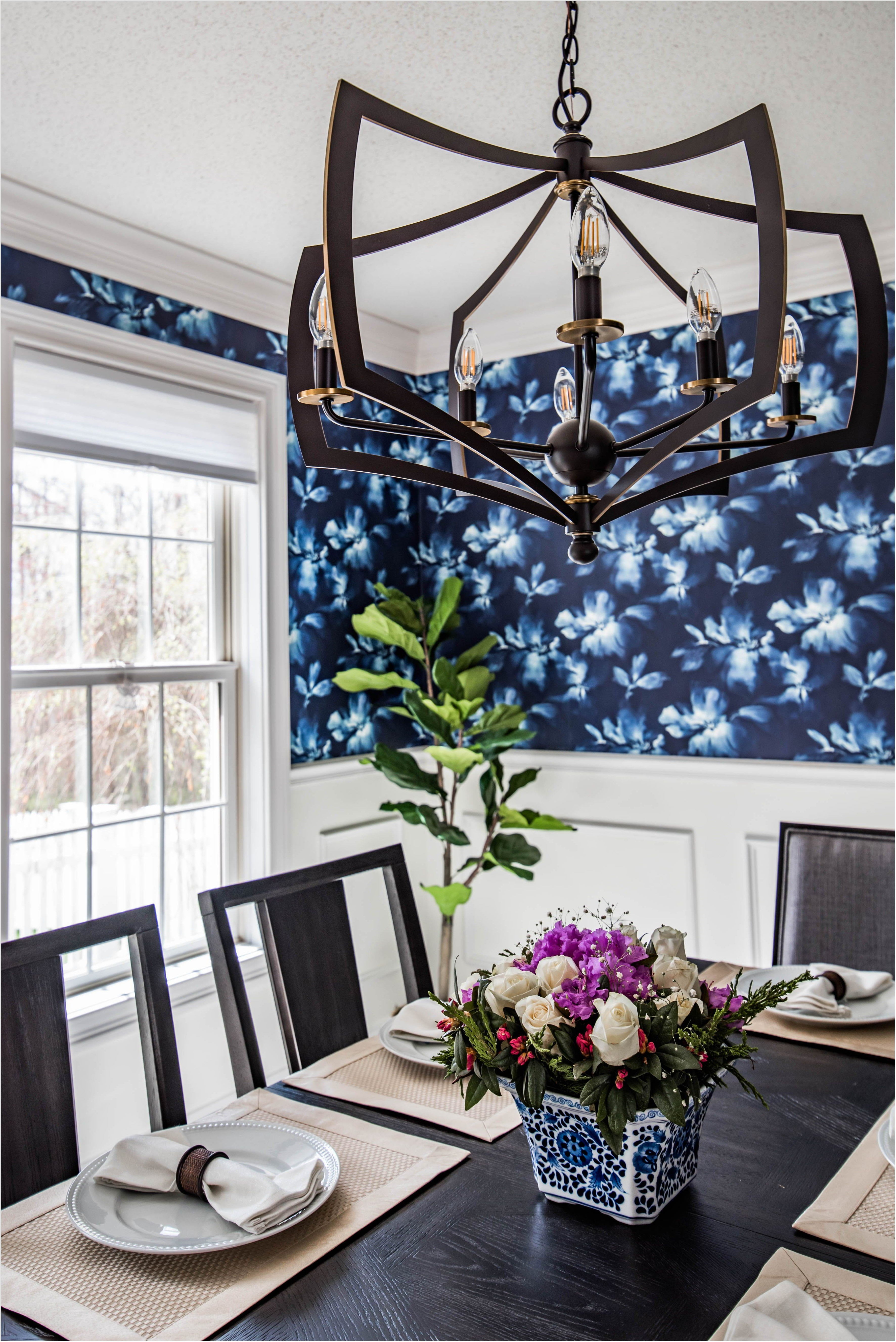 Dining Room Wallpaper With Chair Rail