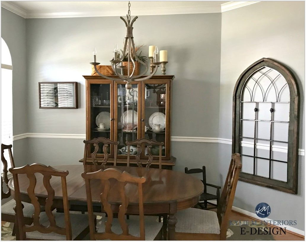 Dining Room With Chair Rail Paint Colors