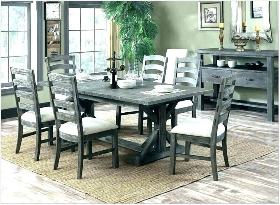 Distressed Wood Dining Room Table