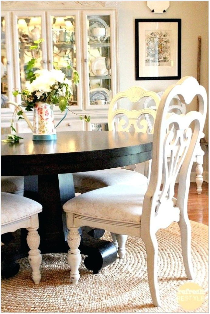 Diy Painting Dining Room Table And Chairs