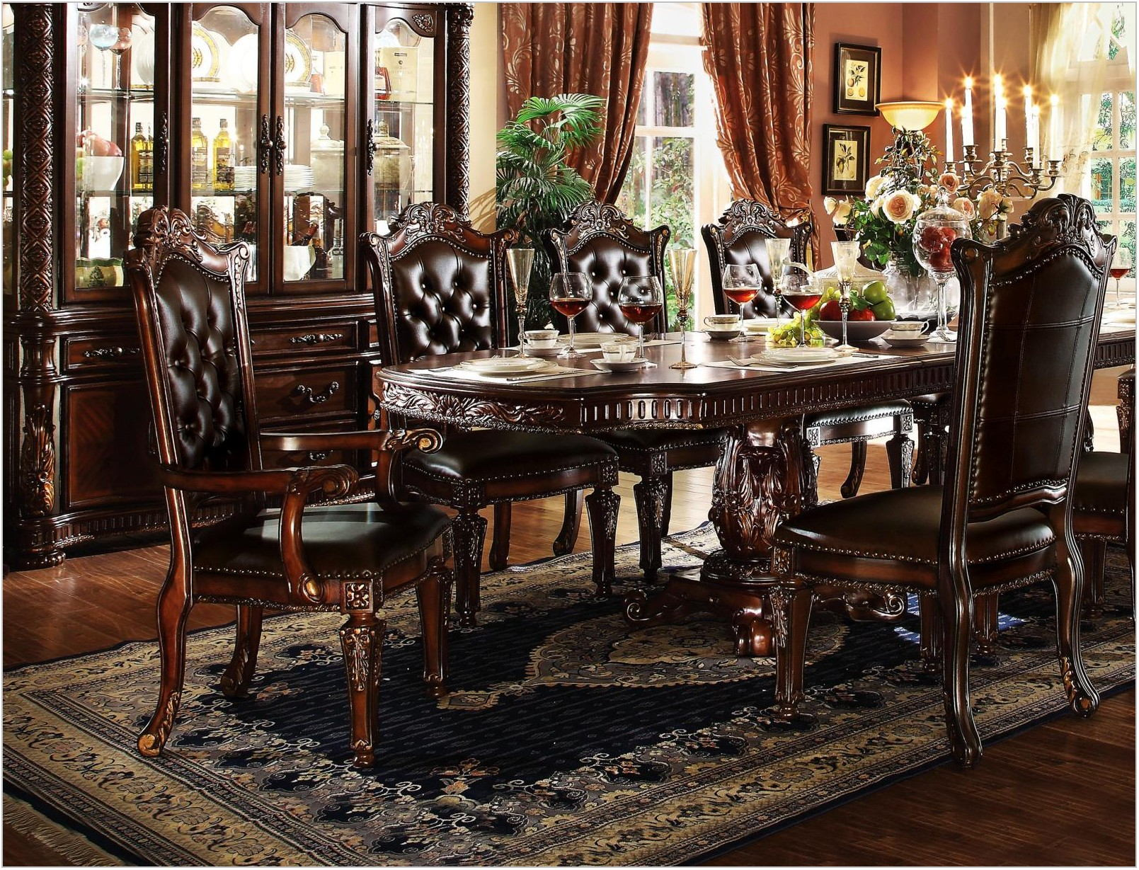 Double Pedestal Dining Room Set