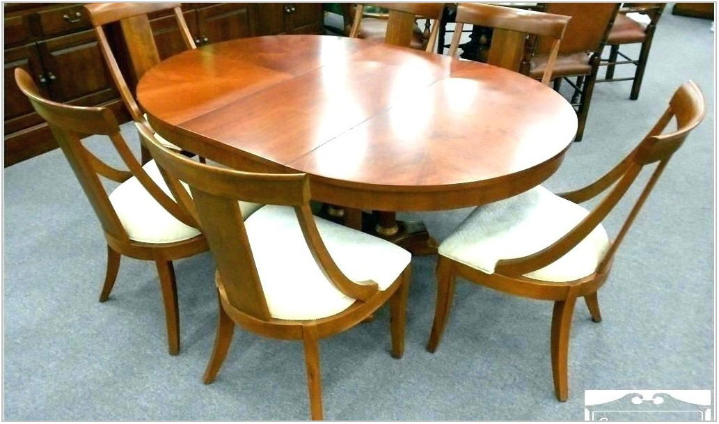 Ethan Allen Round Dining Room Table