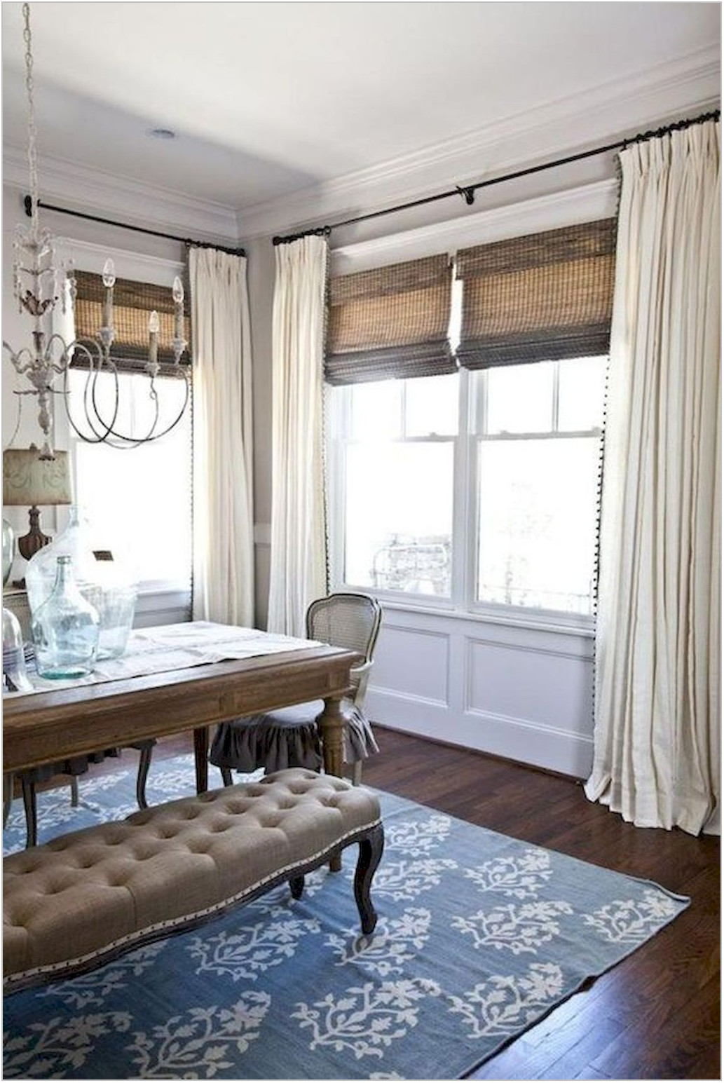 Farmhouse Curtains Dining Room