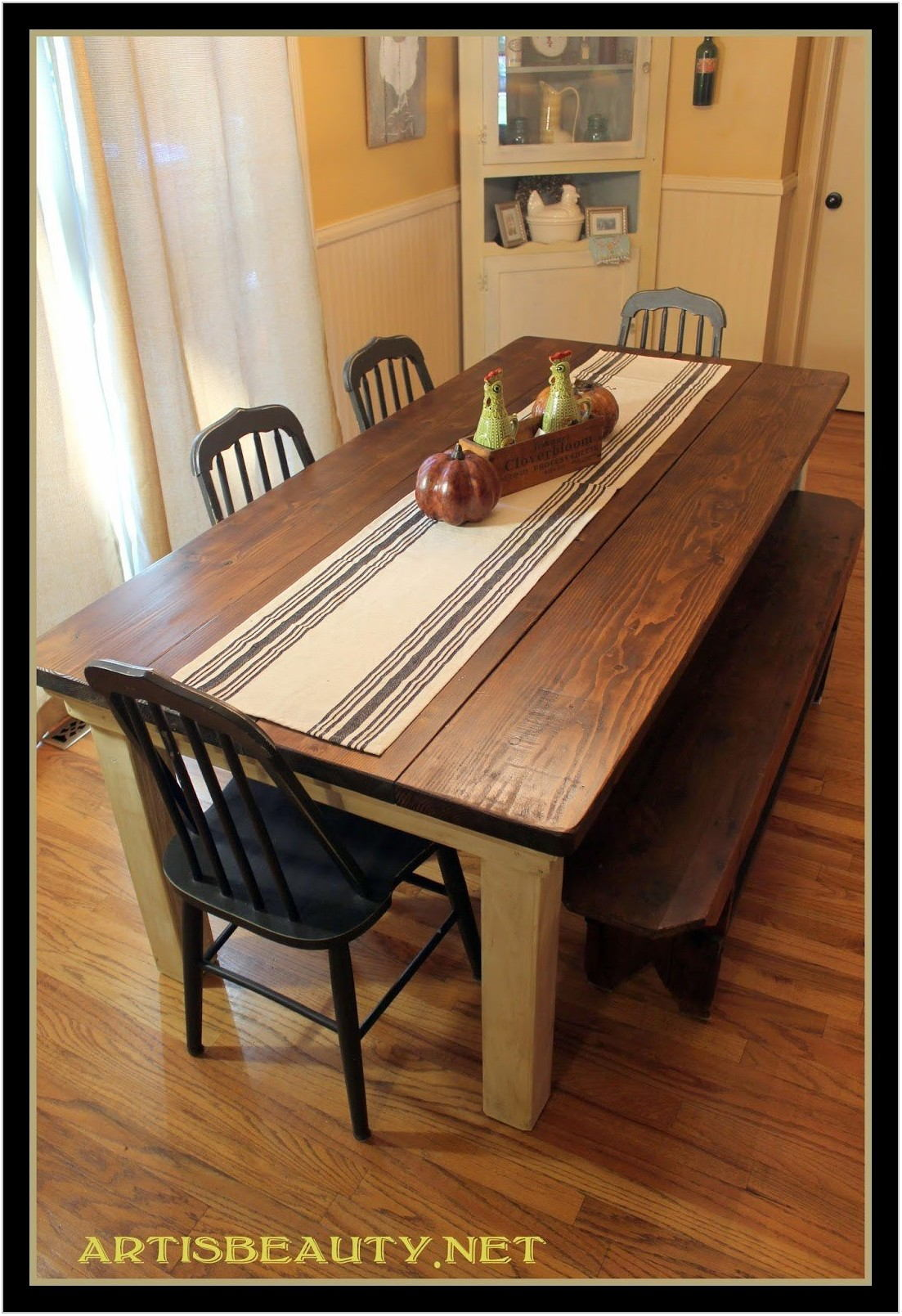 Farmhouse Dining Room Table With Leaves