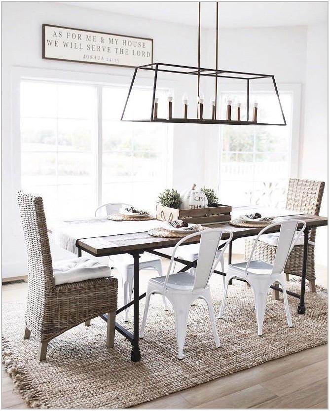 Farmhouse Style Dining Room Light