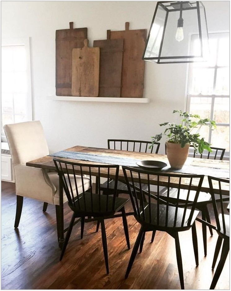 Farmhouse Wood Dining Room Table