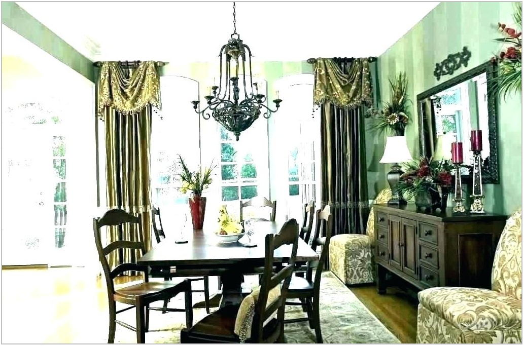 Formal Dining Room Drapes