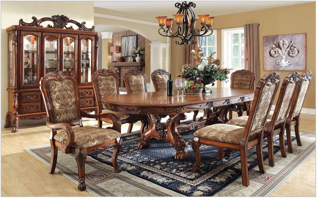 Formal Dining Room Sets With Leather Chairs