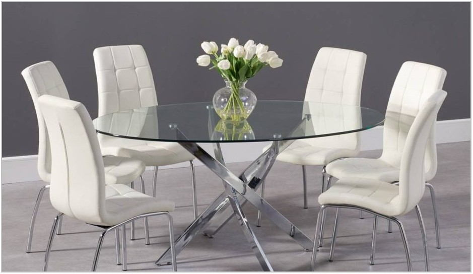 Glass And Metal Dining Room Table
