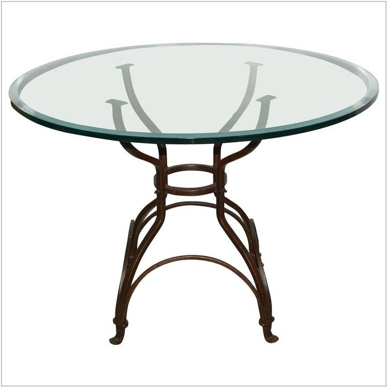Glass Pedestal Dining Room Tables