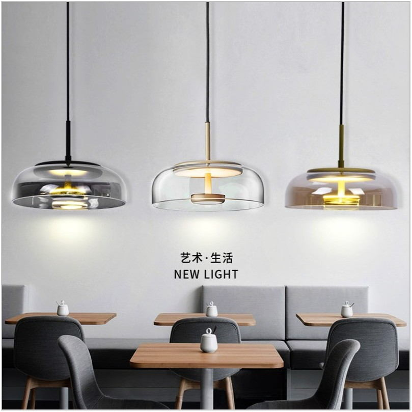 Glass Pendant Dining Room Light