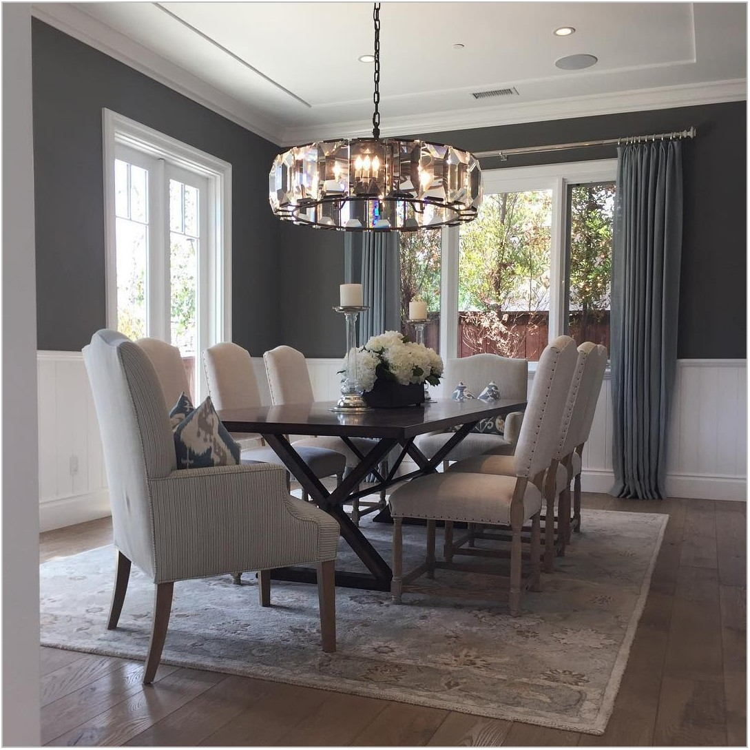 Gray Paint Dining Room