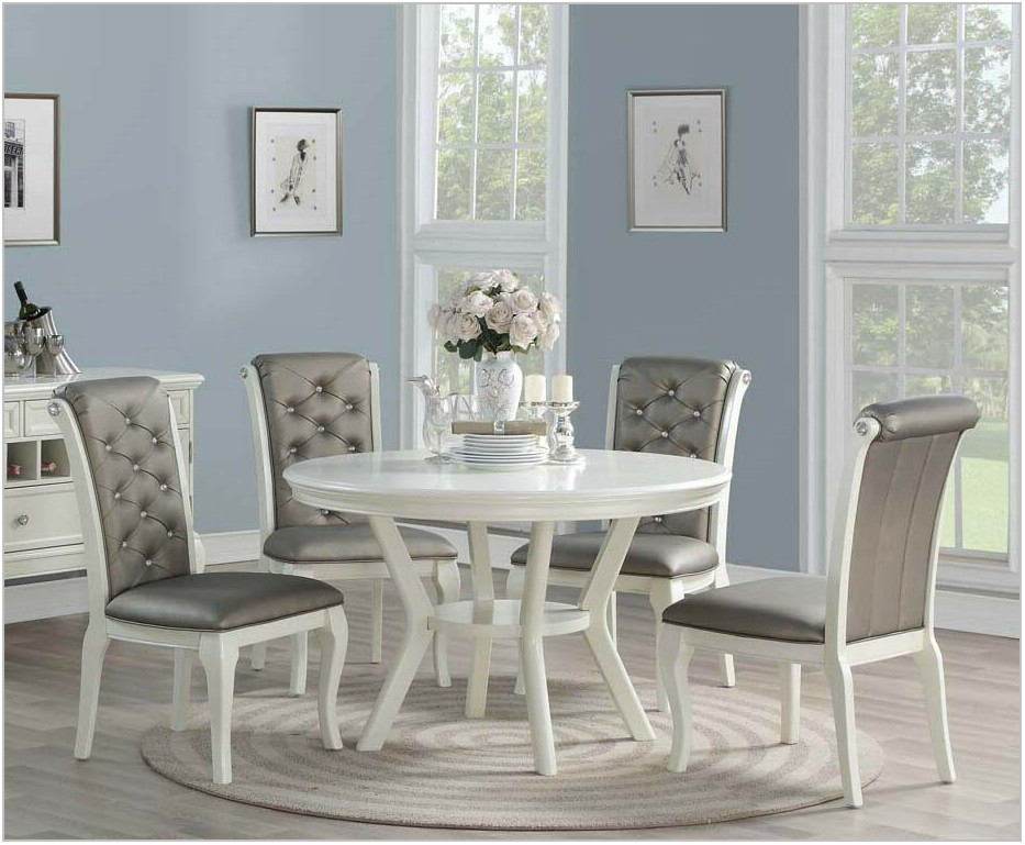 Gray Wood Dining Room Table