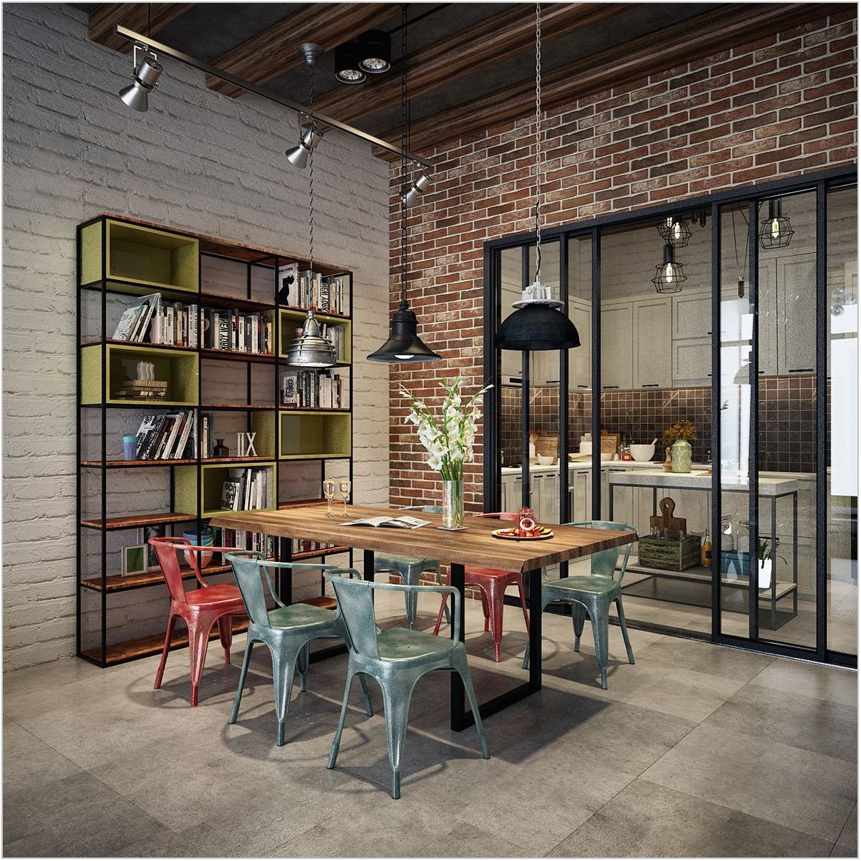 Industrial Design Dining Room