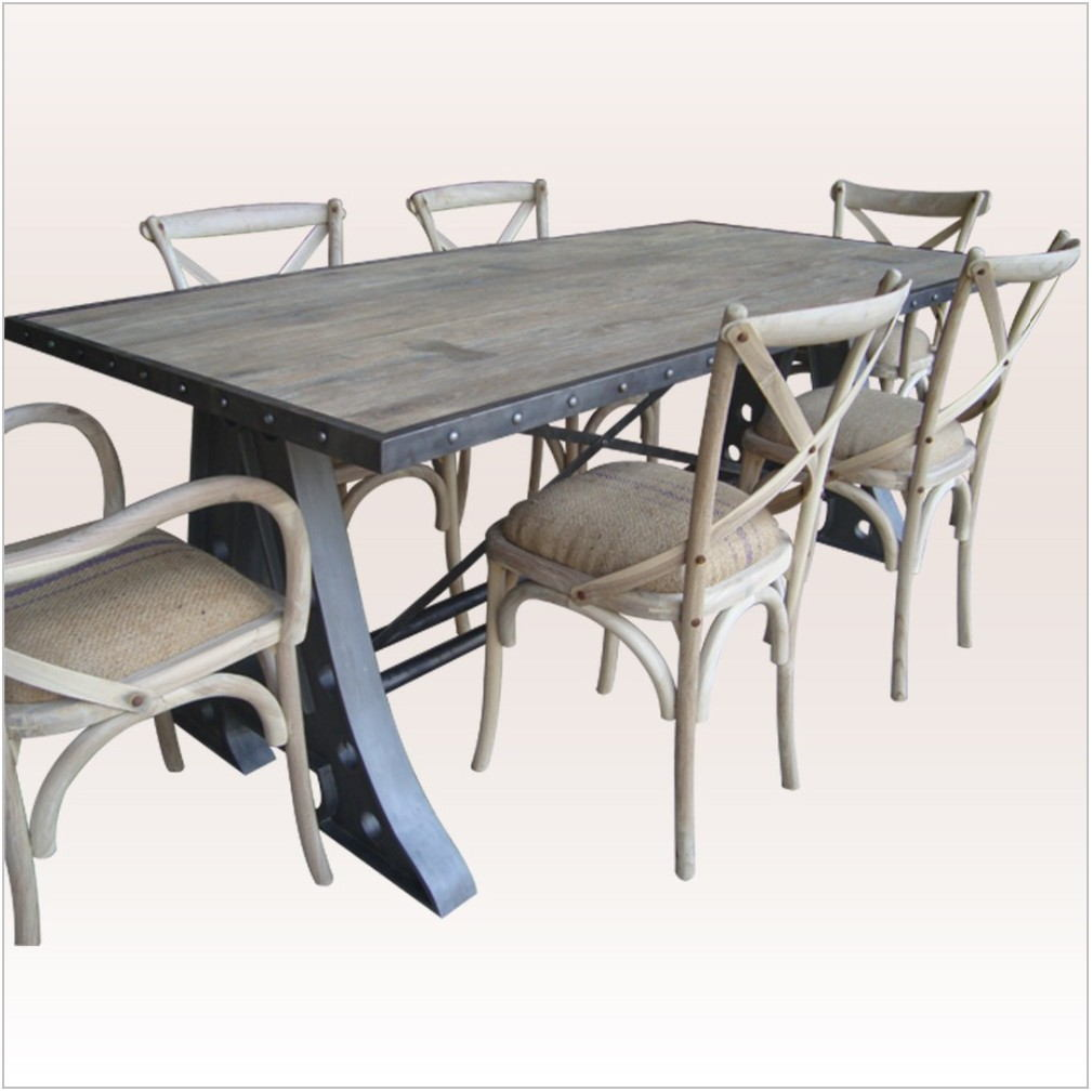 Industrial Dining Room Table Set
