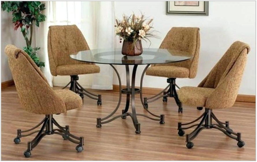 Leather Dining Room Chairs With Casters