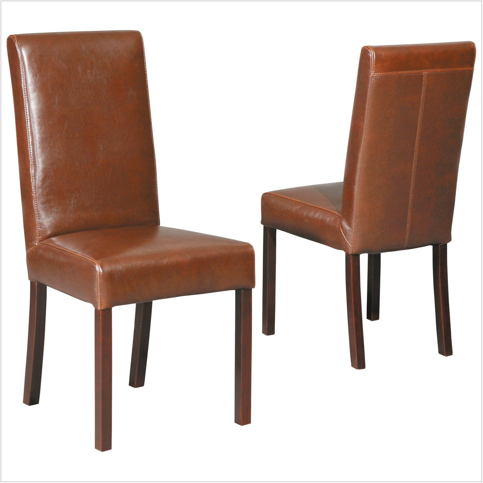 Leather Parsons Chairs Dining Room