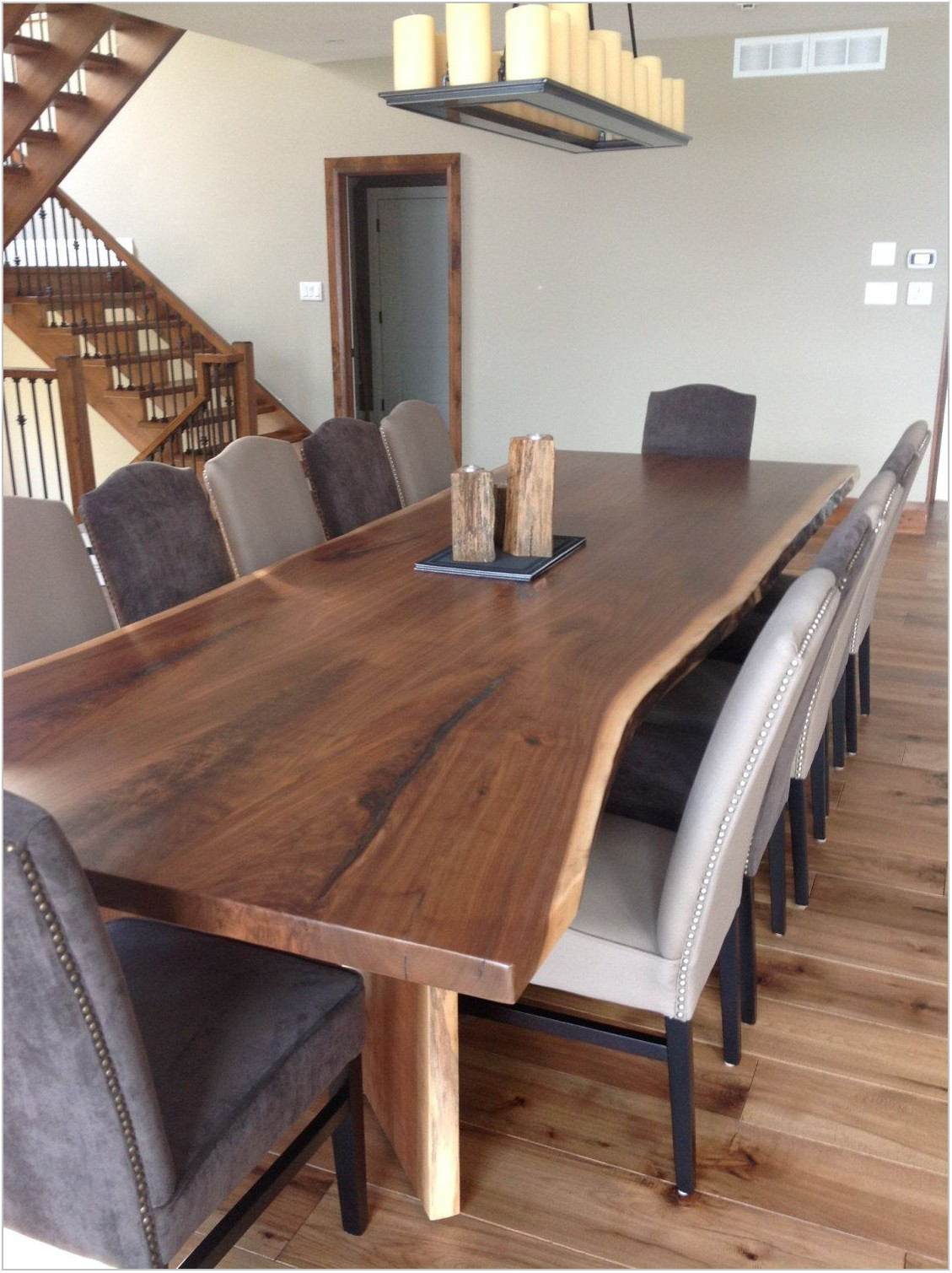 Live Edge Table Dining Room