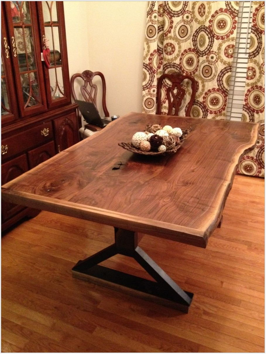 Live Edge Wood Dining Room Table