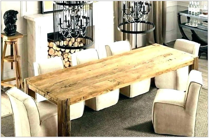Long Dining Room Table With Bench