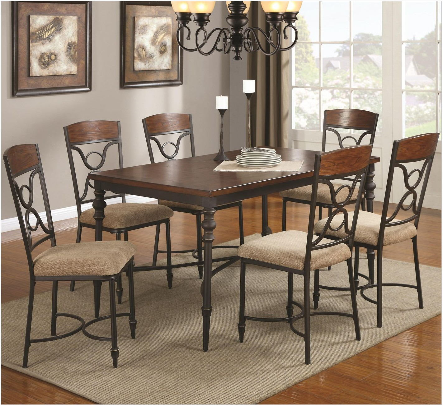 Metal And Wood Dining Room Chairs