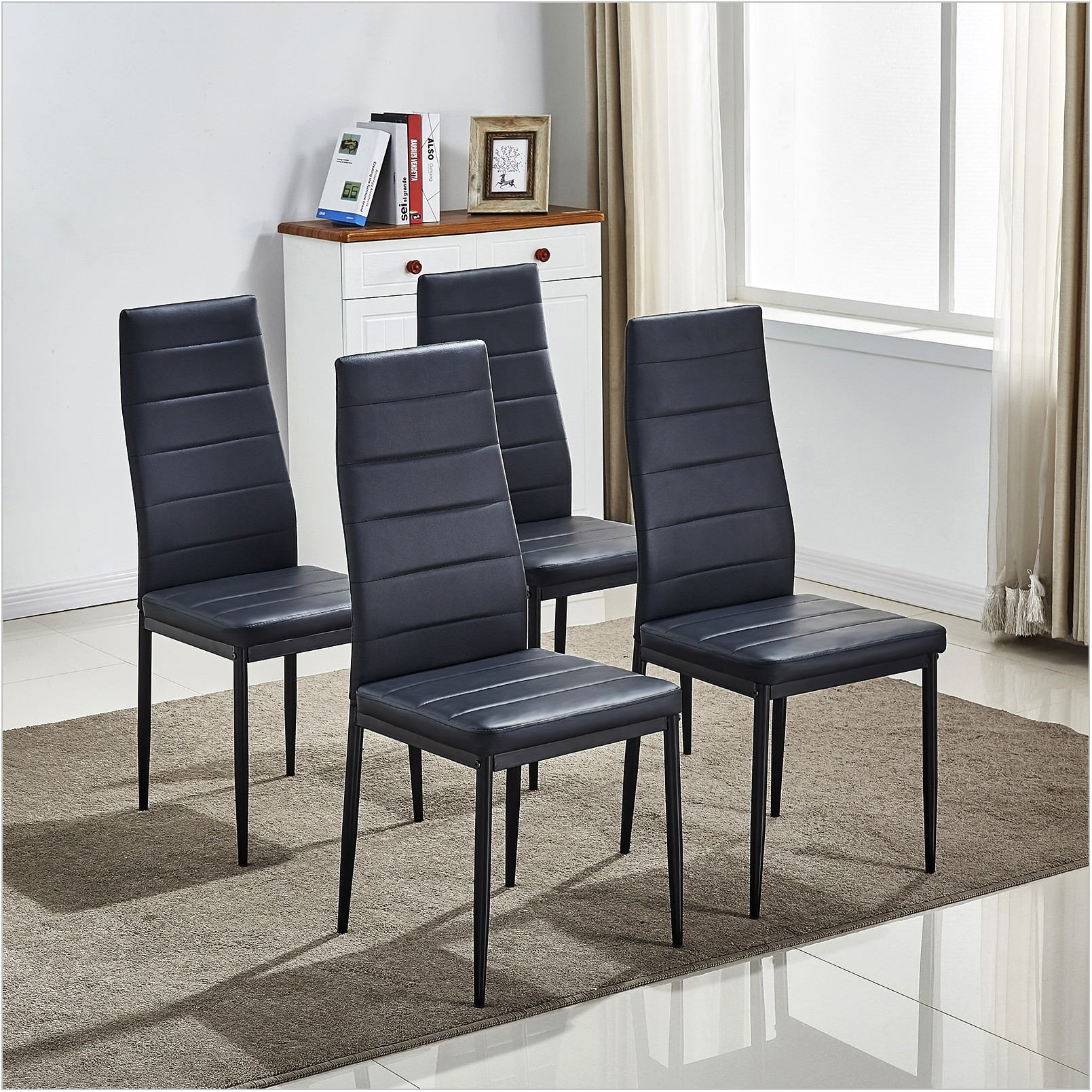 Metal Leg Dining Room Chairs