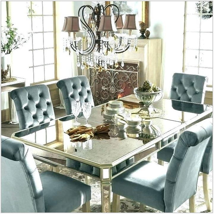 Mirror Dining Room Table Set