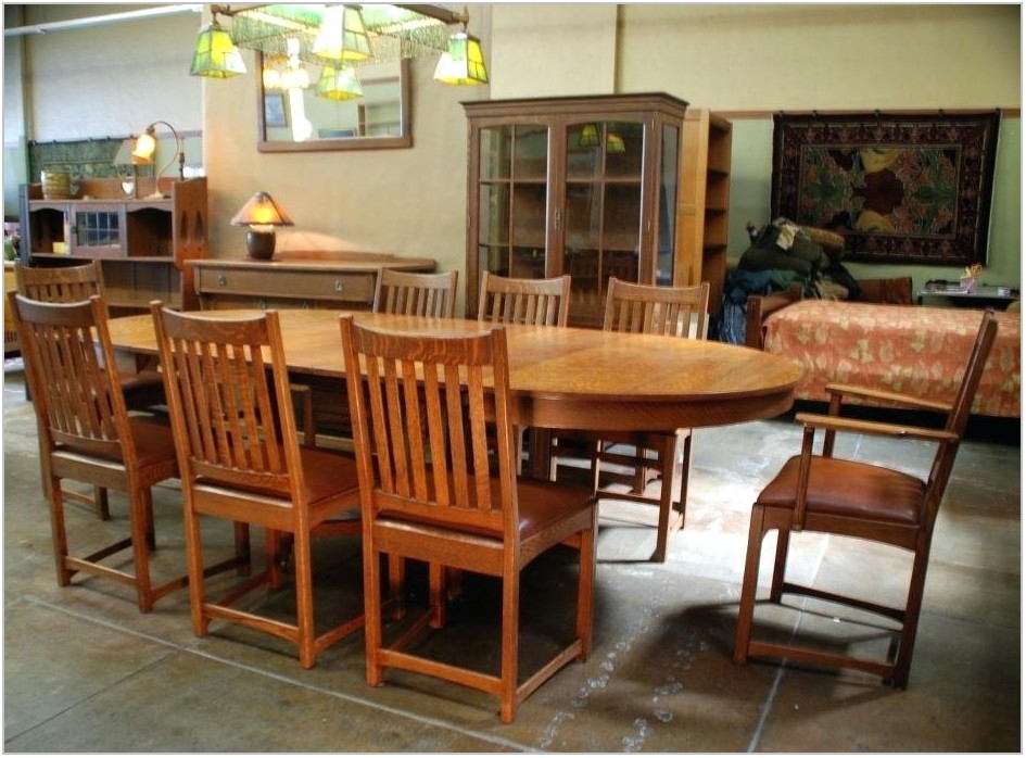 Mission Style Dining Room Set For Sale