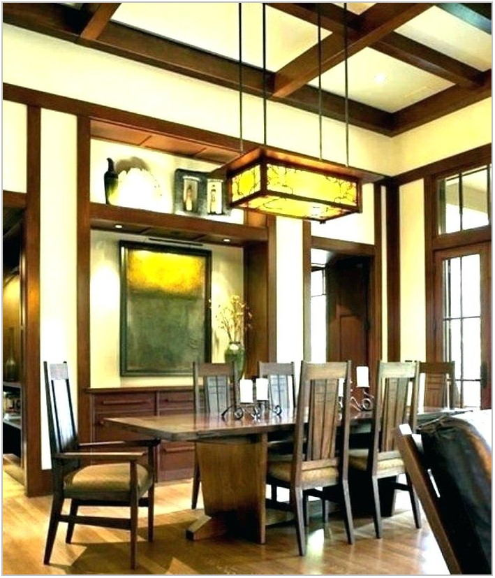 Mission Style Lighting Dining Room