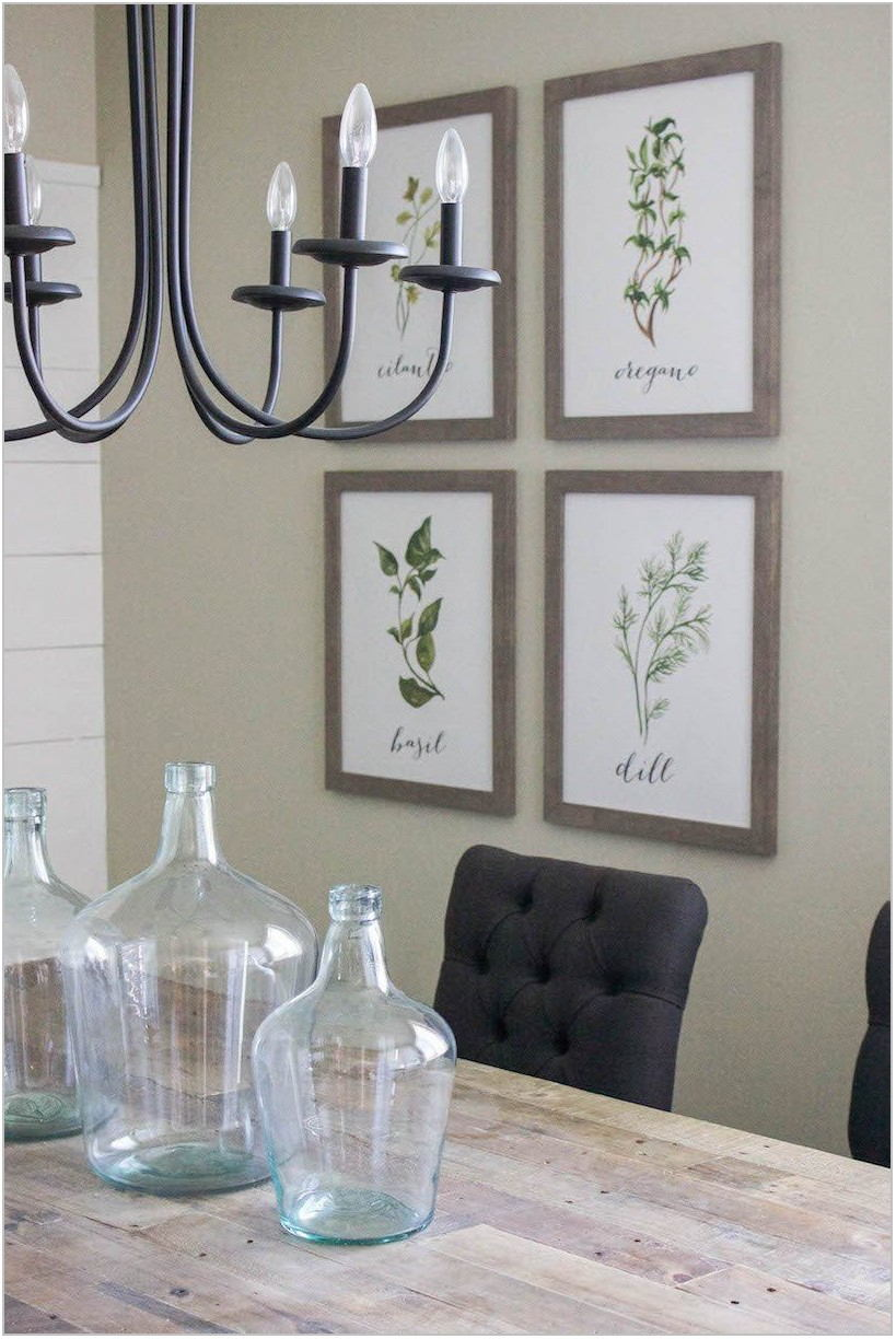 Modern Farmhouse Dining Room Wall Art