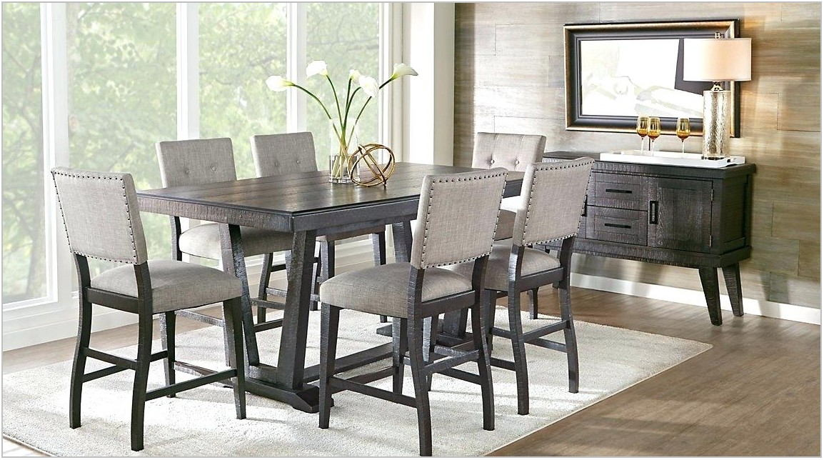 Modern Gray Dining Room Set