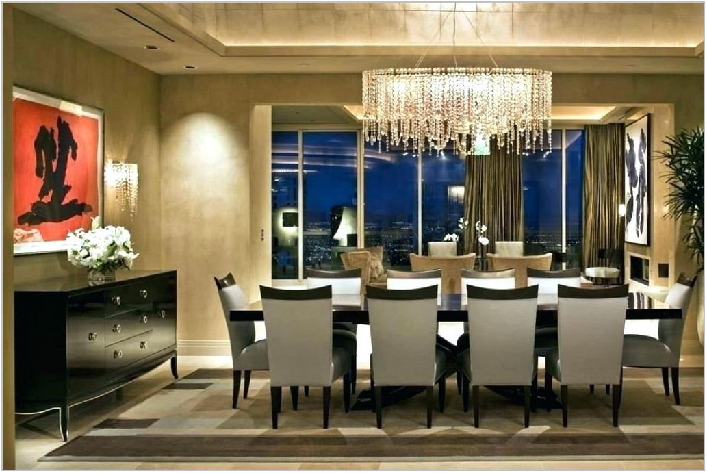 Modern Rectangular Chandeliers Dining Room