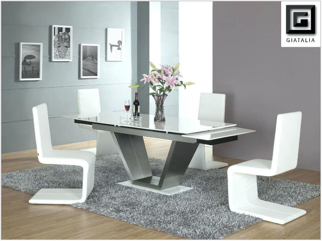 Modern White Dining Room Table And Chairs