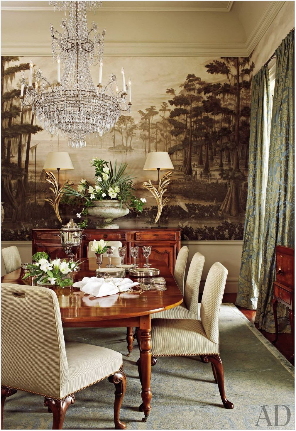 Mural Wallpaper Dining Room