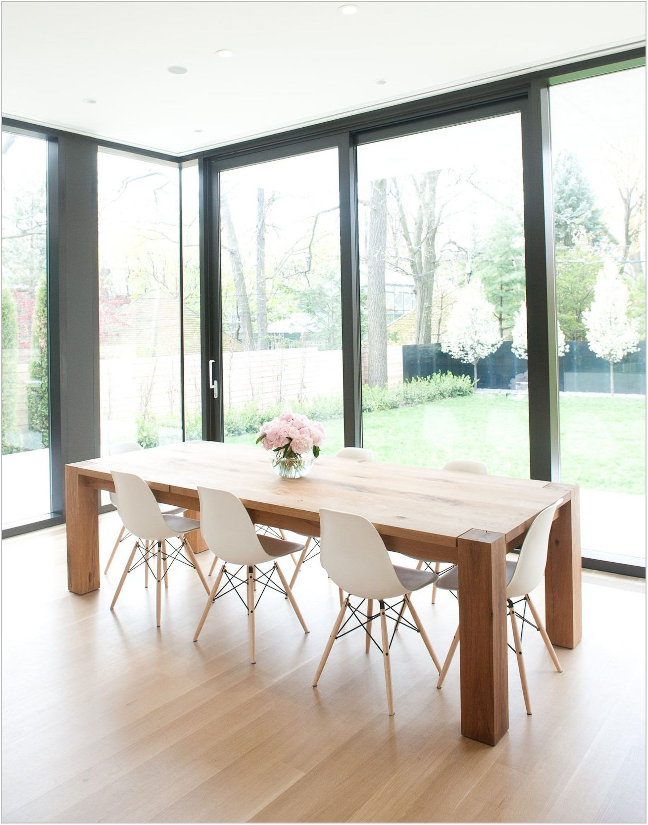 Natural Wood Dining Room Chairs