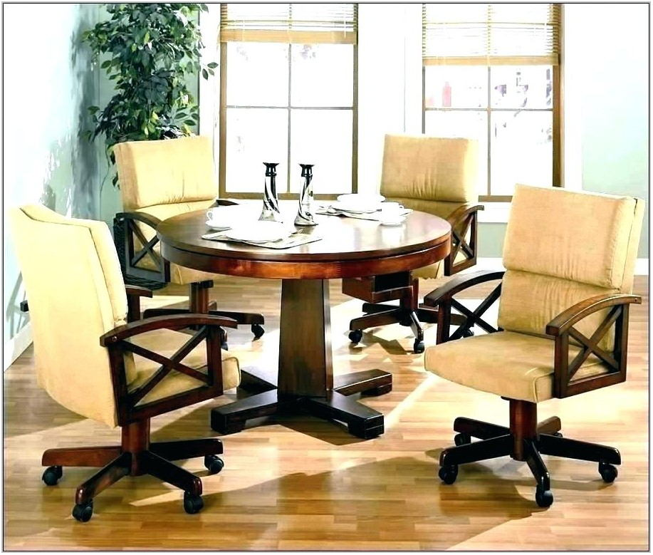 Oak Dining Room Chairs With Casters