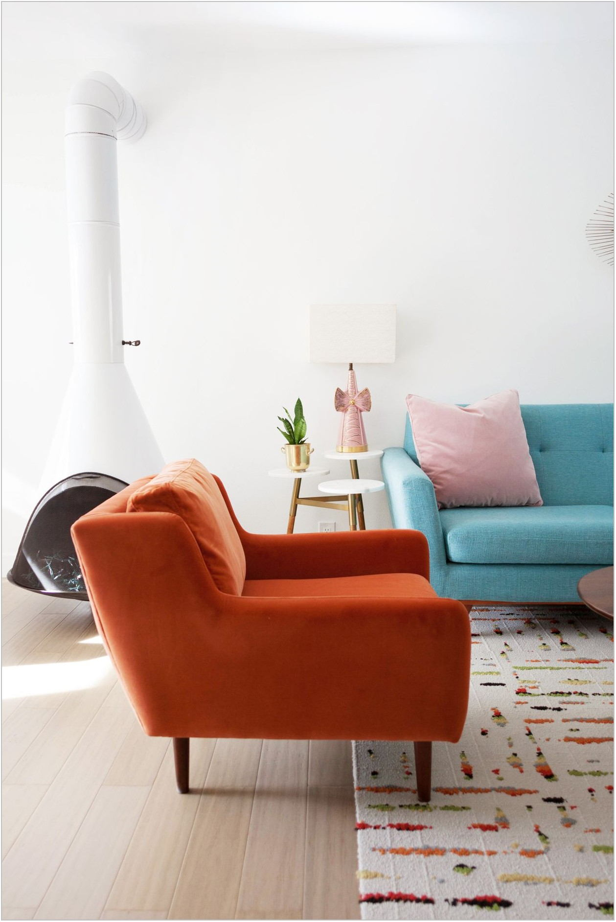 Orange Chair Cushions Dining Room