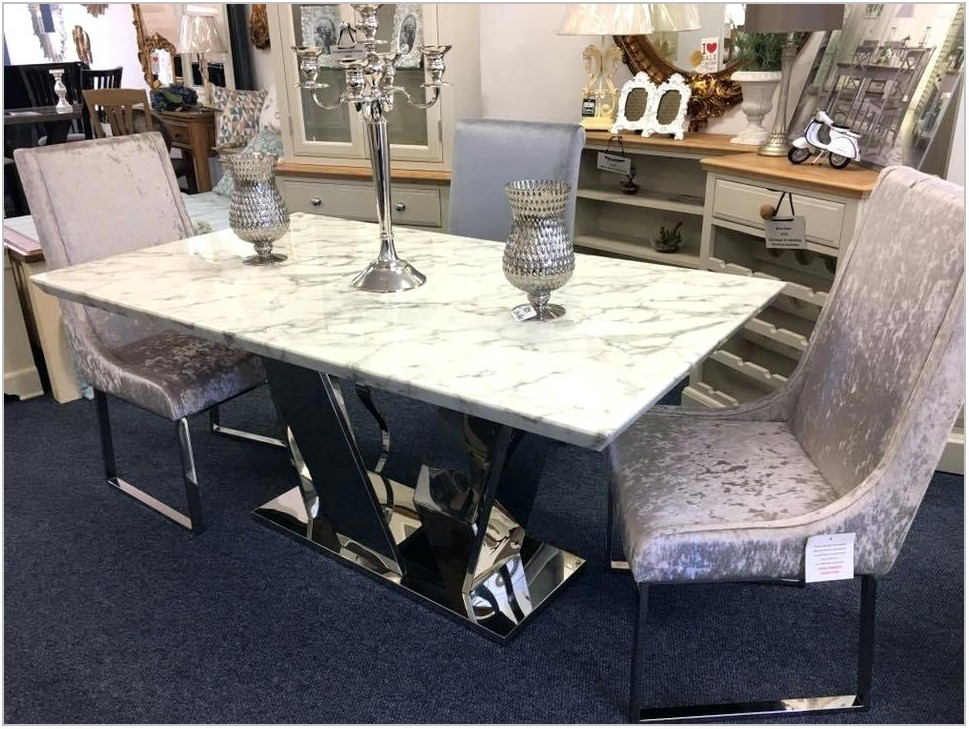 Oval Marble Dining Room Table