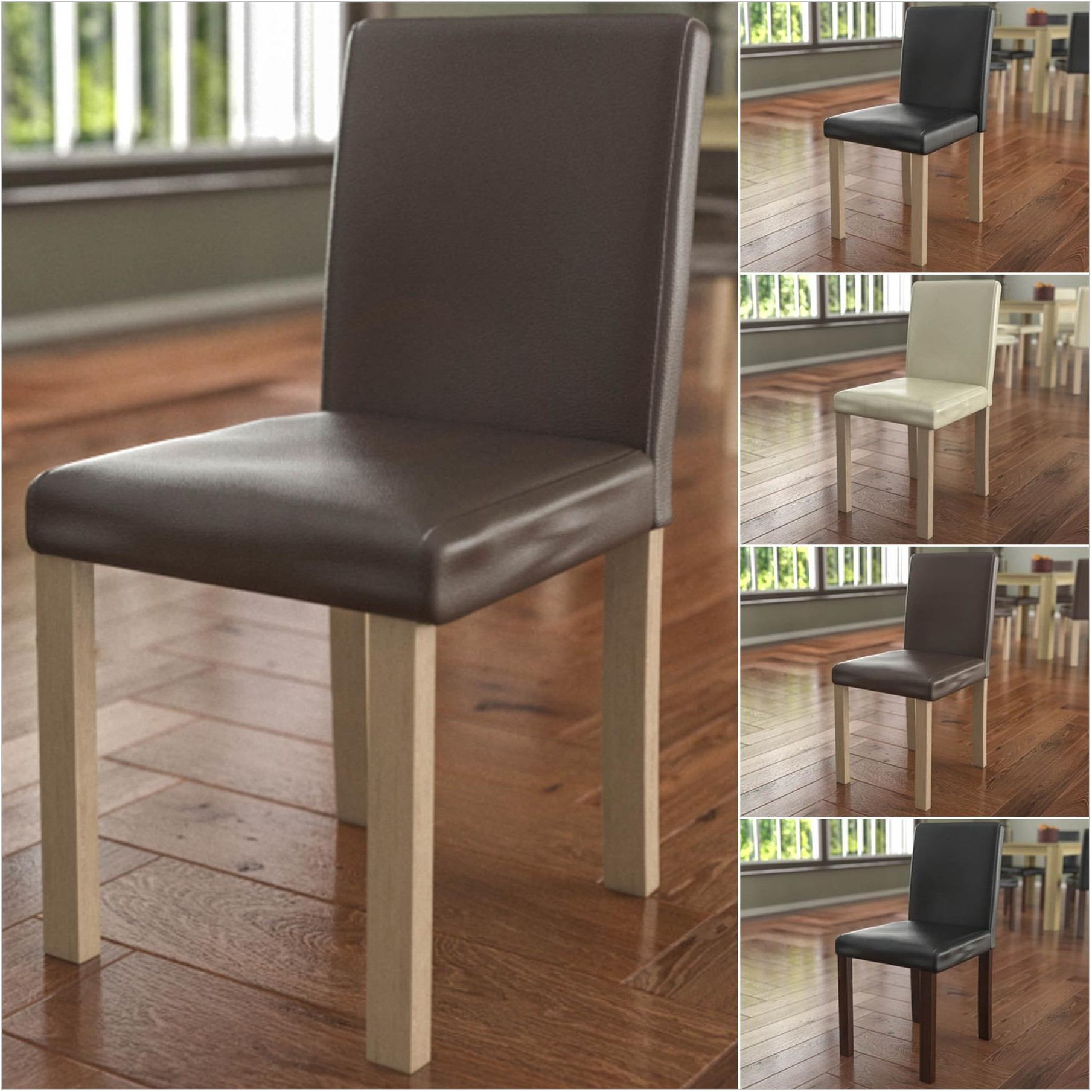 Padded Seat Dining Room Chairs