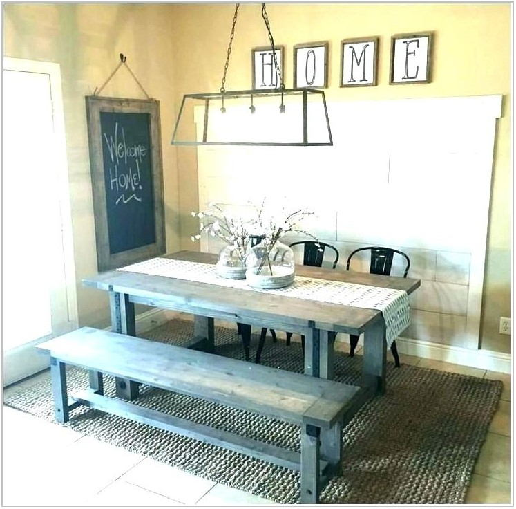 Picnic Table Dining Room Set