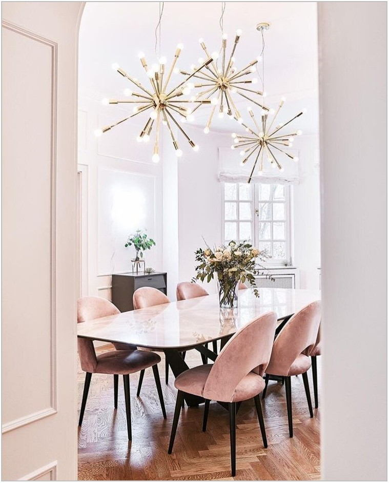 Pink Chairs Dining Room