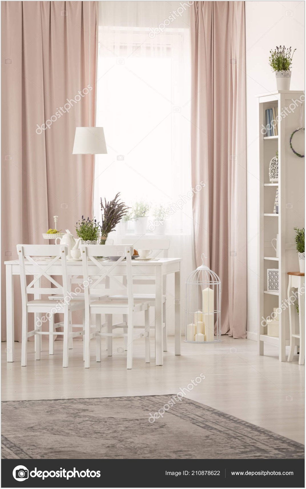 Pink Dining Room Table
